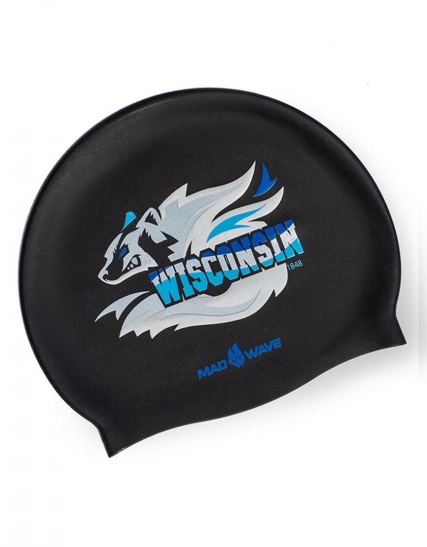 Шапочка для плавания силиконовая Mad Wave WISCONSIN