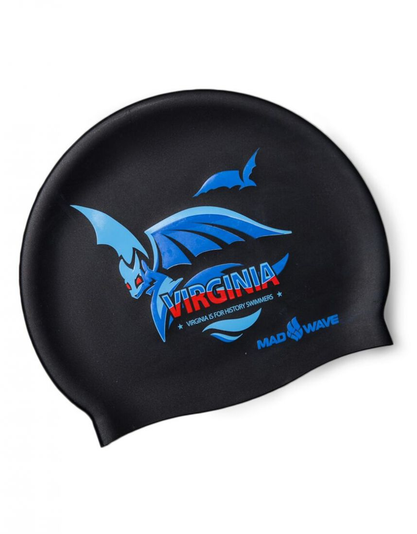 Шапочка для плавания силиконовая Mad Wave VIRGINIA