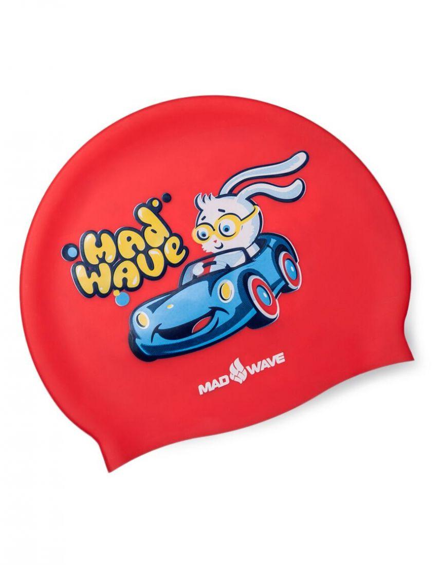 Шапочка для плавания силиконовая Mad Wave BUNNY