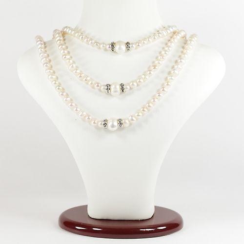 Ожерелье - Княжна - жемчужное в 3 нити