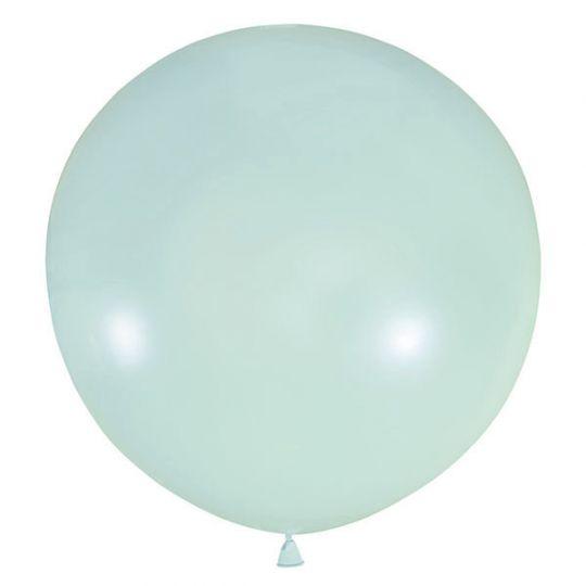 Голубой Винтаж метровый шар с гелием
