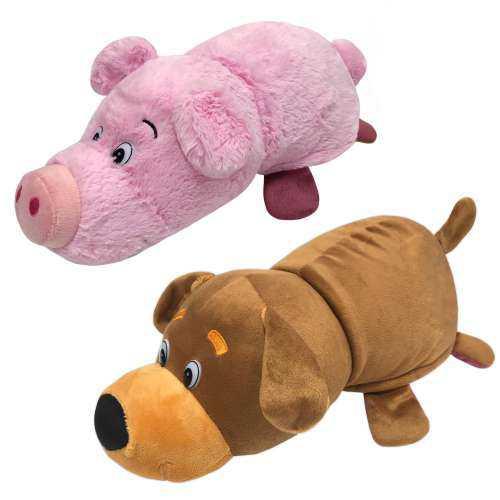 Мягкая игрушка Вывернушка 2в1 Собака - Свинья, 1 TOY 35 см