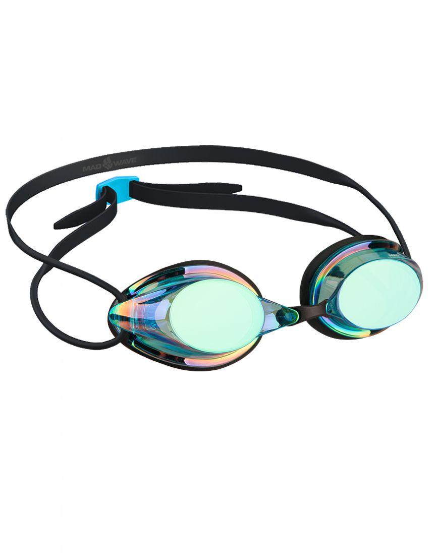 Очки для плавания стартовые Mad Wave STREAMLINE Rainbow