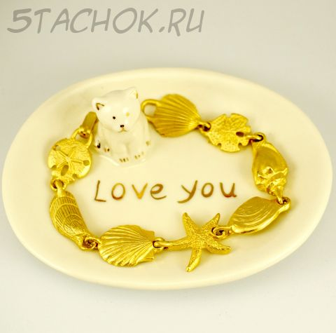 "Браслет ""Морские ракушки"" цвет золота (США)"