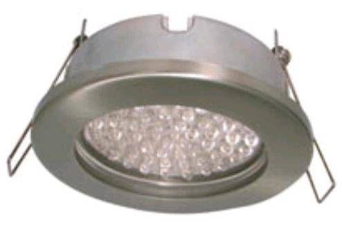 Светильник встраиваемый Ecola GX53-H9 IP65 Сатин-хром 98x55 FS5365ECB