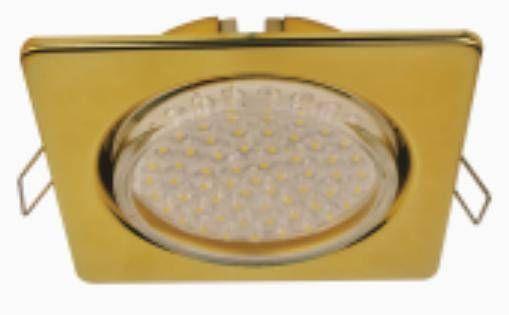 Светильник встраиваемый Ecola GX53-H4 Квадрат плоский Золото 41x106 FG53N4ECB