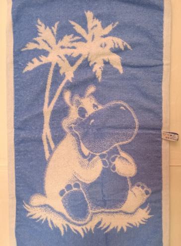 Детское полотенце Бегемотик