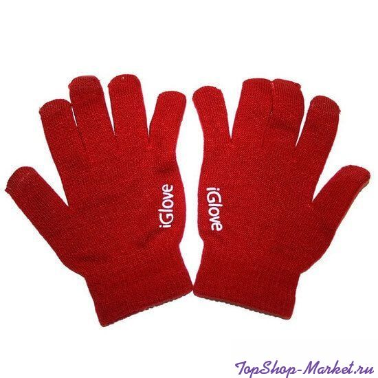 Перчатки iGlove для работы с емкостными экранами, Цвет: Красный