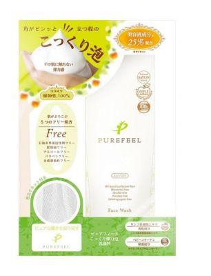 Daiichi Purefeel Упругая пенка для умывания с экстрактом яблока и коллагена 100 гр + салфетка для лица