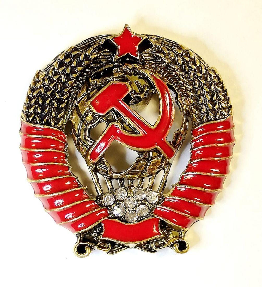 Магнит Герб СССР со стразами