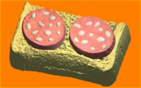 Форма для мыла и шоколада Бутерброд с колбасой