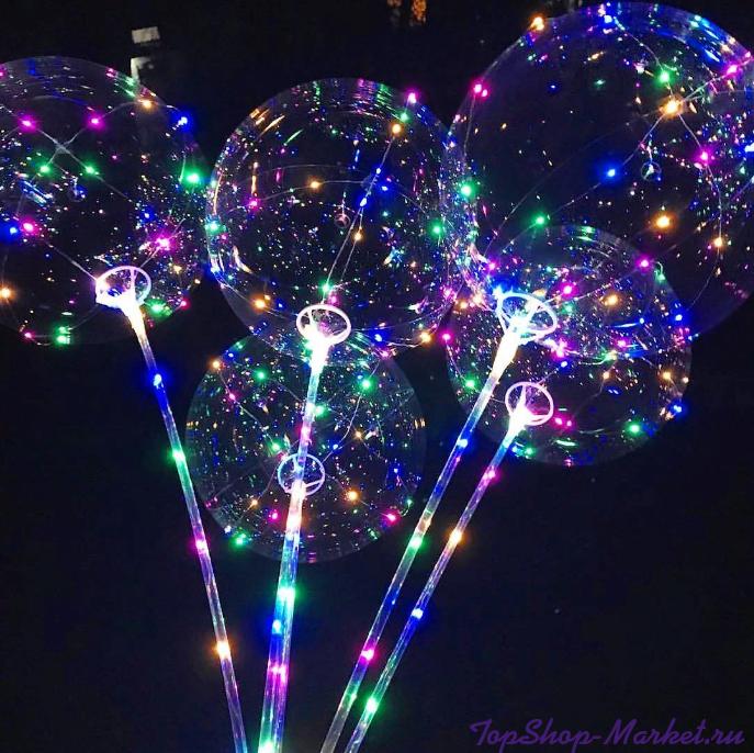 Светящийся led шар BOBO, Шарик Сердце