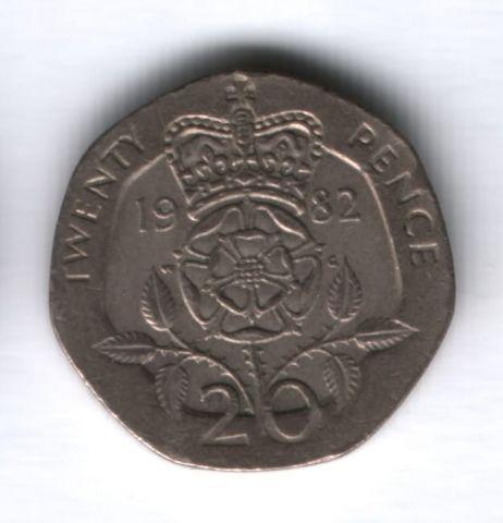 20 пенсов 1982 года Великобритания