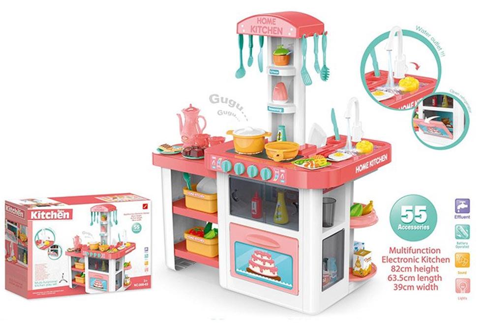 889-63 Кухня игровой набор с водой светом звуком 55 аксессуаров Home Kitchen Модерн-6