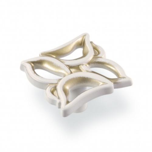 Ручка-грибок FВ-059 000 золото прованс/1013 жемчужно-белый матовый (TЗ)