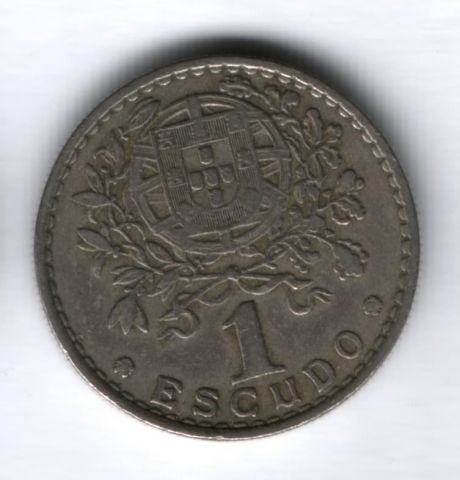 1 эскудо 1959 года Португалия