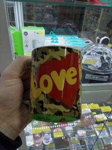 Кружка Love is - Любовь это когда защитник рядом