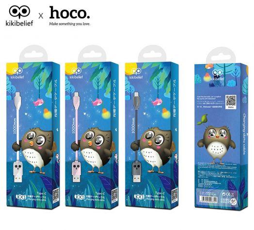 Кабель USB-Type-C Hoco KX1 Type-C, серый