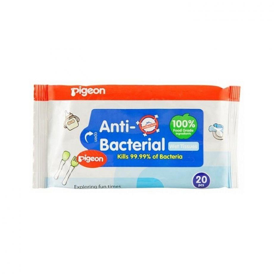 Влажные салфетки детские PIGEON с антибактериальным эффектом 20шт