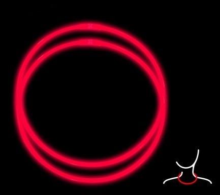 Светящиеся ожерелья Glow Necklaces, 2 шт х 28 см