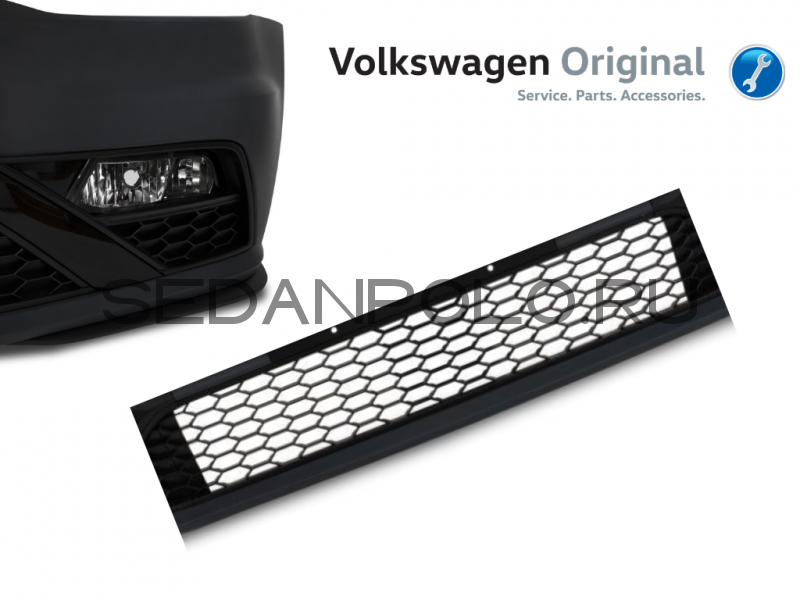Решетка нижняя бампера VAG Polo GT Volkswagen Polo Sedan