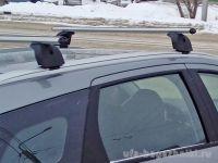 Багажник на крышу Lada Vesta sw / Lada Vesta sw cross, Lux, аэродинамические дуги (53 мм) на интегрированные рейлинги