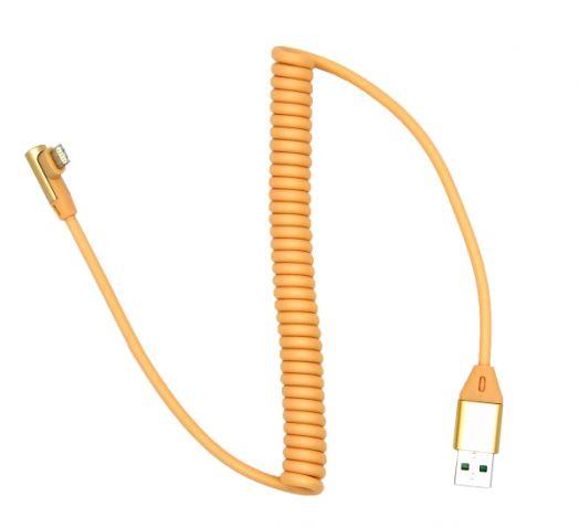 Кабель USB 2А Орбита KM-141 (iPhone5/6/7) 1м витой (*5)