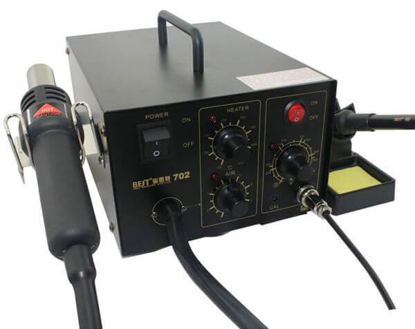 Термовоздушная паяльная станция 2 в 1: фен + паяльник Best-702