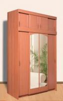 Шкаф 4-х створчатый с антресолью  ЛДСП/МДФ