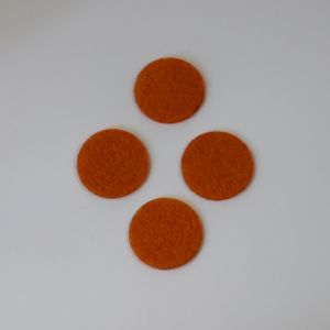 Фетровые пяточки 15мм, цвет № 16 оранжевый