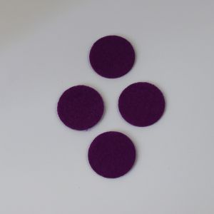 Фетровые пяточки 15мм, цвет № 27 темно-фиолетовый
