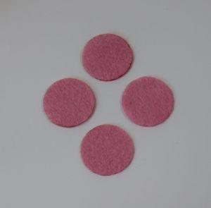 Фетровые пяточки 20мм, цвет № 02 розовый
