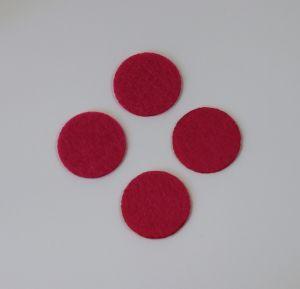 Фетровые пяточки 20мм, цвет № 03 ярко-розовый