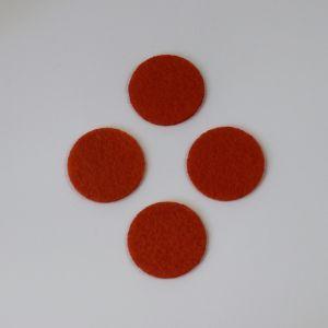 Фетровые пяточки 20мм, цвет № 17 темно-оранжевый