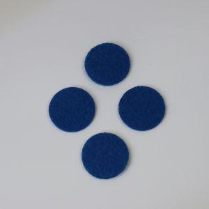 Фетровые пяточки 20мм, цвет № 22 синий