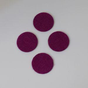 Фетровые пяточки 20мм, цвет № 30 ярко-фиолетовый