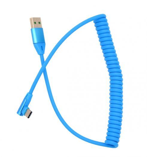 Кабель USB 2А Орбита KM-142 (TYPE C) 1м витой