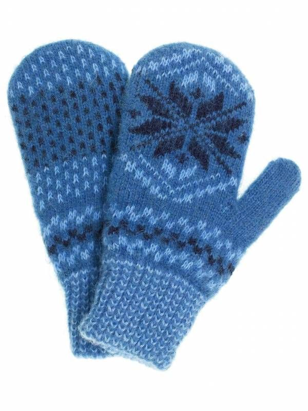 Варежки для мальчика синего цвета