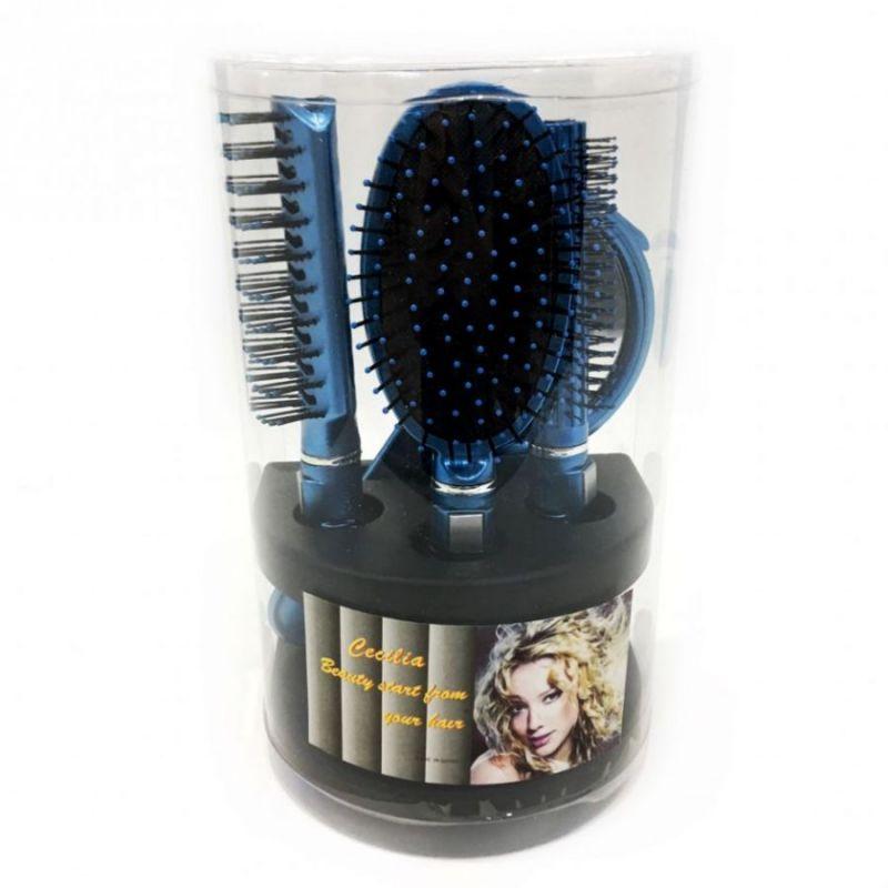 Подарочный набор расчесок для волос Cecilia, 5 шт, цвет синий