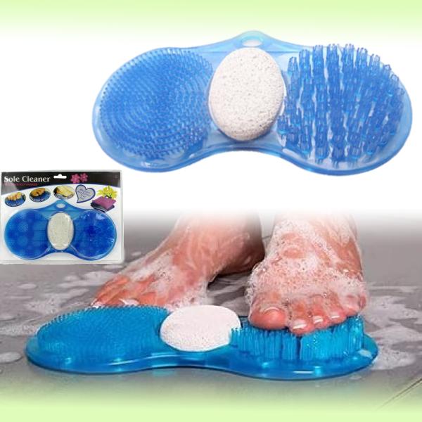 Массажный коврик для мытья ног с пемзой Revival Essentials Sole Cleaner