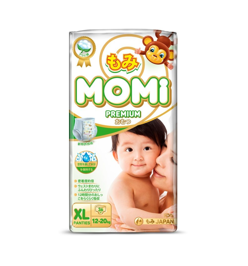 Momi Premium Трусики-подгузники 36 шт, 12-20 кг