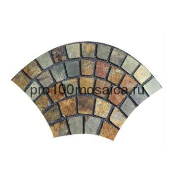 PAV-101 сланец. Брусчатка серия PAVING,  размер, мм: 1080x650x10~15 (NS Mosaic)