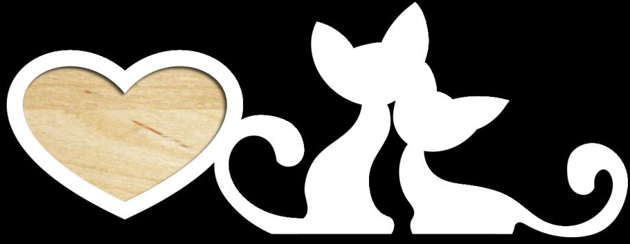 Фоторамка с котами малая