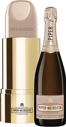 """Champagne Piper-Heidsieck Cuv?e Sublime Demi-Sec (gift box """"Lipstick"""")"""