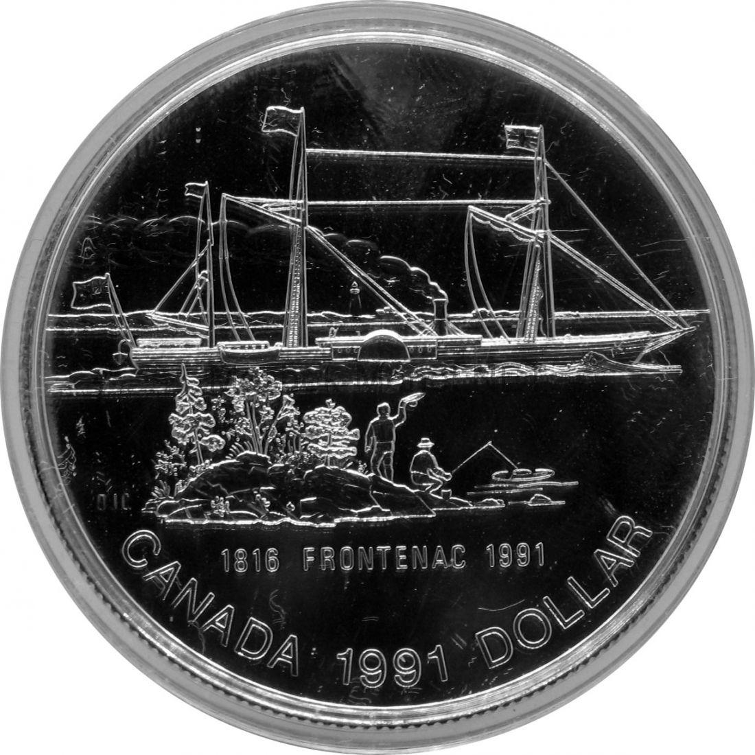 Канада 1 доллар 1991 г. S.S. Frontenac