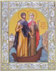 Икона Петр и Феврония Муромские  (14х18см)