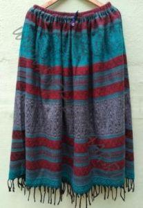 NEW! Длинная тёплая голубая юбка с узором