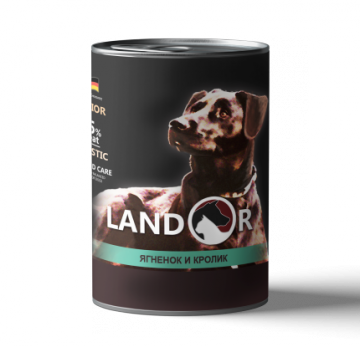 Ландор для пожилых собак ягненок с кроликом 400г