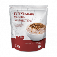 Каша макробиотическая пшеничная со  льном