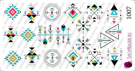 Слайдер дизайн 1007 - Геометрия, символы ацтеков